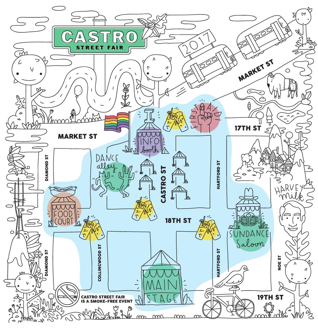 2017 Castro Street Fair Map