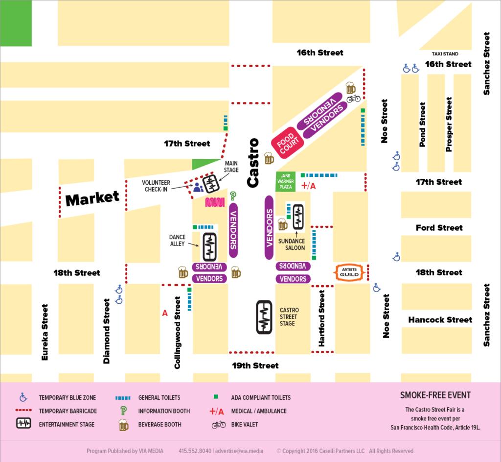 2016 Castro Street Fair Map