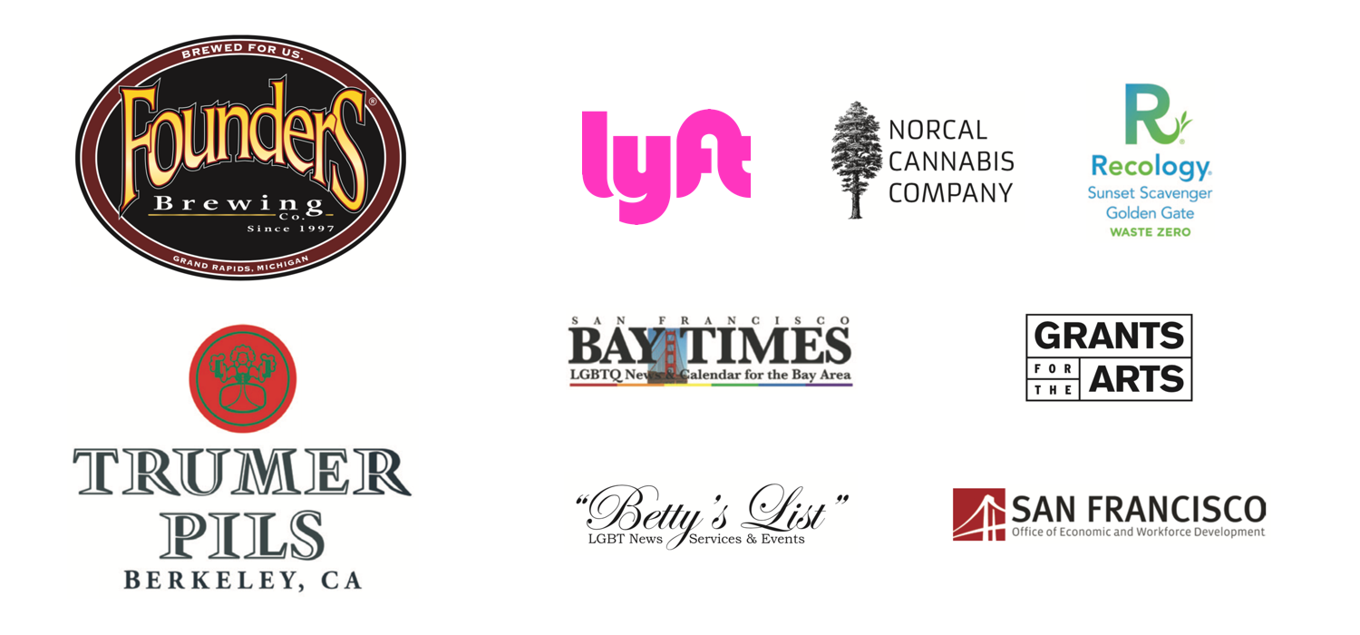 2018 Castro Street Fair sponsors: Trumer Pils, Founders Brewery, Lyft, Norcal Cannabis Company, Recology, Bay Times, Betty's List, Grants for the Arts, San Francisco Office of Economic and Workforce Development