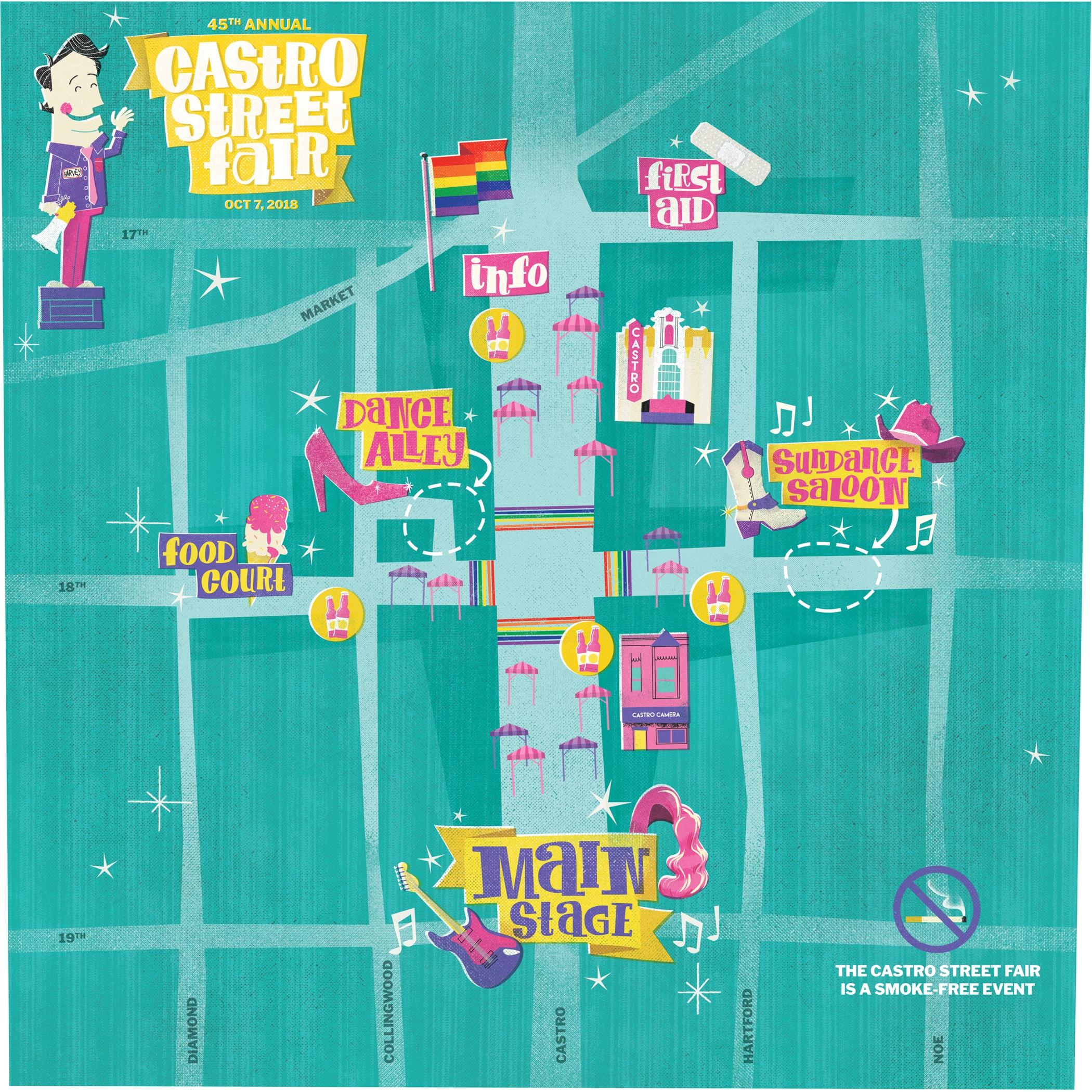 Castro Street Fair 2018 Map