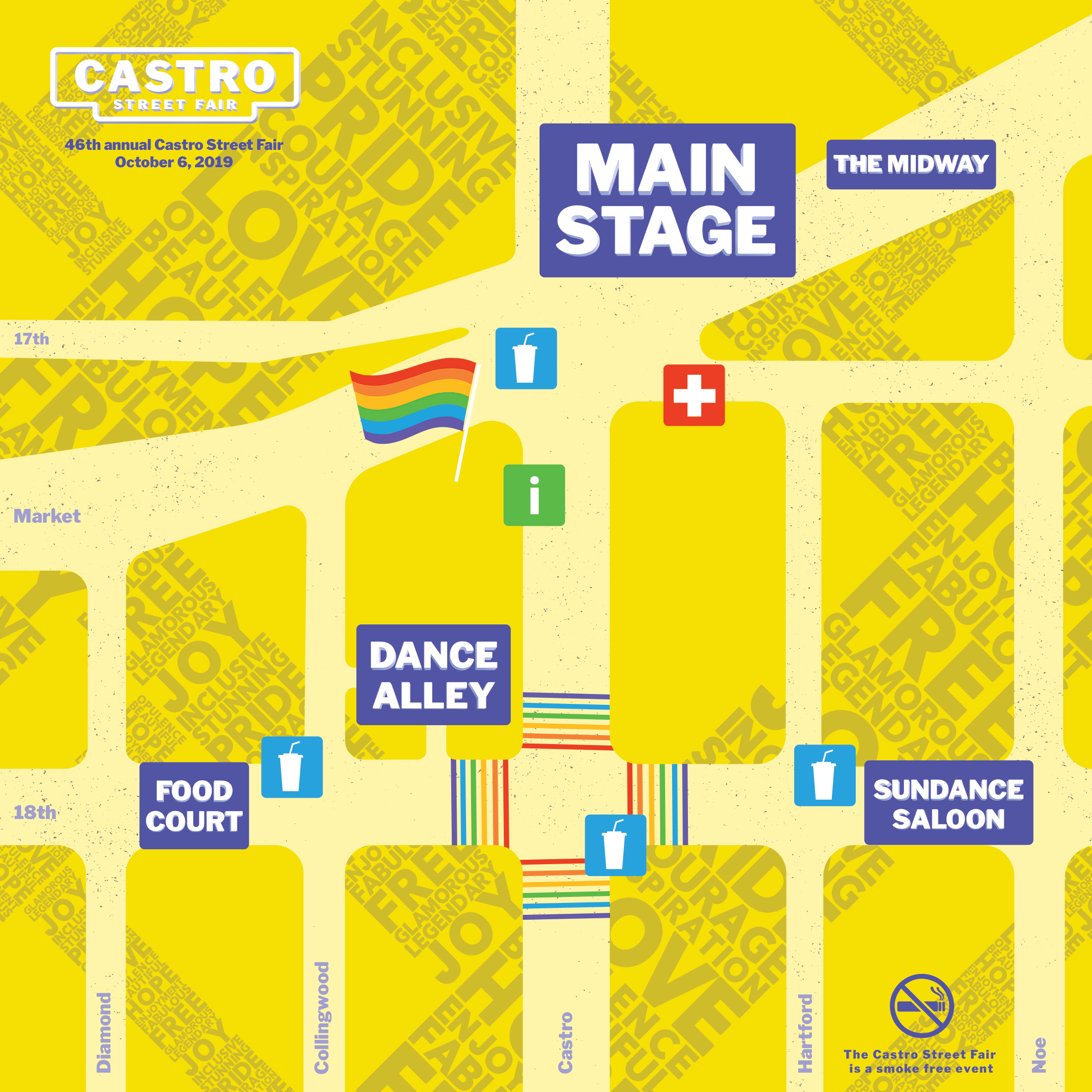 Map of the 46th Annual Castro Street Fair grounds
