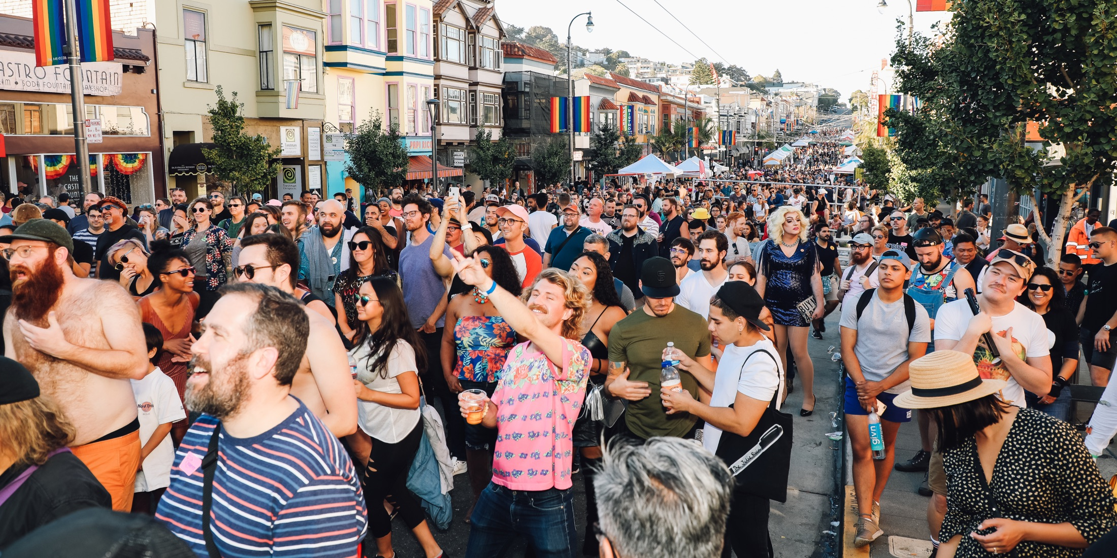 Crowds at last year's Castro Street Fair